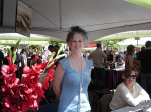Samantha Kitchel sells her book at the CWA Printers Row tent in 2013.